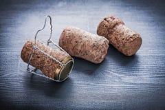 3 corcks шампанского с проводами Стоковое Изображение