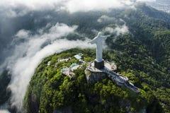 Corcobado, brasi. Vista aerea del corcobado de brasil Royalty Free Stock Photo