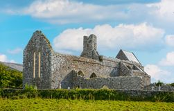 Corcomroe Abbey, County Clare, Ireland. Corcomroe Abbey is an early 13th-century Cistercian monastery located in the north of the Burren region of County Clare Royalty Free Stock Images