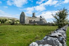 Corcomroe Abbey Ruins. Ruins of Corcomroe Abbey, a Cistercian monastery located in the north of the Burren region of County Clare in Ireland Royalty Free Stock Photography