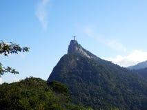 Corcovado和cristo redentor在里约热内卢 免版税库存图片