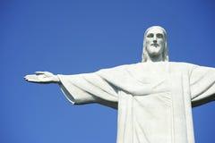 Corcovado基督水平救世主的蓝天 库存照片