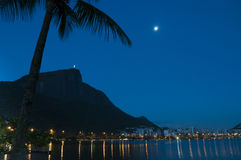 Corcovado and a blue sky. Royalty Free Stock Photography