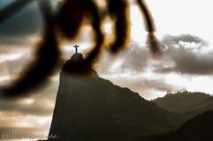 Corcovado frame Rio de Janeiro Cristo Redentor royalty free stock photography