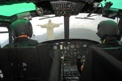 Corcovado - Helecoptero Pilots stock photography
