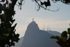 Corcovado hill seen from Sugarloaf. Rio de Janeiro, Brazil Stock Image