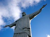 Corcovado Kristus Förlossarestatyn Arkivbilder