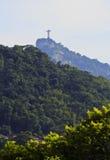Corcovado Mountain. Brazil, City of Rio de Janeiro, Christ the Redeemer on top of the Corcovado Mountain viewed from the Parque das Ruinas in Santa Teresa Royalty Free Stock Image