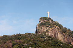 Corcovado mountain with Christ the Redeemer Stock Images