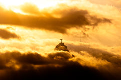Corcovado Mountain with Christ the Redeemer Statue Royalty Free Stock Images