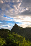 Corcovado Mountain with Christ the Redeemer Royalty Free Stock Image