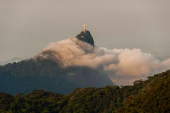 Corcovado Mountain in Clouds Royalty Free Stock Image