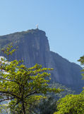 Corcovado Mountain in Rio Royalty Free Stock Images
