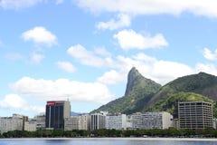 Corcovado mountain in Rio de Janeiro Stock Images