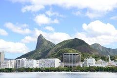 Corcovado mountain in Rio de Janeiro. Corcovado mountain with christ Redeemer in Rio de Janeiro Royalty Free Stock Photo