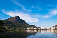 Corcovado Mountain in Rio de Janeiro Stock Photo