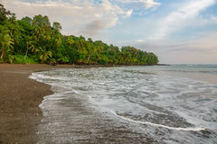 Corcovado National Park - beach view with pacific ocean. Pacific ocean in Corcovado National Park beach and forest, Osa Peninsula, Costa Rica Royalty Free Stock Photography