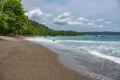 Corcovado National Park - beach view with tourists Royalty Free Stock Photo