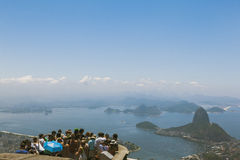 CORCOVADO, RIO DE JANEIRO, BRAZIL - NOVEMBER 2009: crowd of tour. Crowd of tourists looking at the view from lookout point in Corcovado Royalty Free Stock Image
