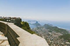 CORCOVADO, RIO DE JANEIRO, BRAZIL - NOVEMBER 2009: view over Rio Royalty Free Stock Image