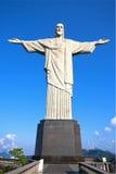 Corcovado Rio de Janeiro de la estatua del redentor de Cristo Foto de archivo