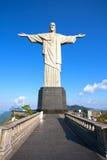 Corcovado Rio de Janeiro de statue de rédempteur du Christ Photos stock
