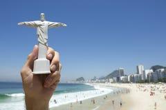 Corcovado Tourist Souvenir Copacabana Beach Rio Brazil Stock Image