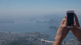 Corcovado view in Rio de Janeiro Stock Images