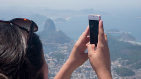 Corcovado view in Rio de Janeiro Royalty Free Stock Images