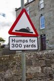 Corcundas para 300 jardas de sinal de rua Imagem de Stock Royalty Free
