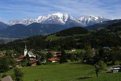 Cordão com Mont Blanc no fundo foto de stock royalty free