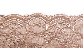 Cordón beige del satén Imagenes de archivo