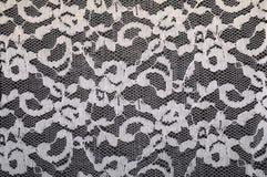 Cordón blanco con el estampado de flores Fotografía de archivo libre de regalías