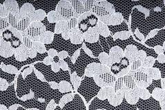 Cordón blanco en fondo negro Fotografía de archivo