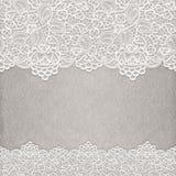 Cordón blanco en la textura de papel Invitaci?n de la boda ilustración del vector