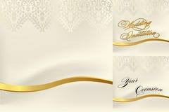 Cordón blanco para una boda Imagen de archivo libre de regalías