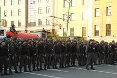 Cordón de la policía Imagen de archivo libre de regalías