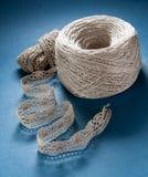 Cordón de lino Fotografía de archivo libre de regalías