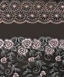 Cordón del collage con el modelo de la manera de la flor Fotos de archivo