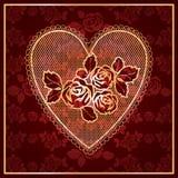 Cordón del corazón Imagen de archivo libre de regalías