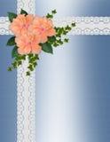 Cordón del hibisco de la invitación de la boda Fotografía de archivo libre de regalías