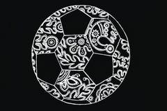 Cordón del ornamento de la bola del fútbol Fotos de archivo
