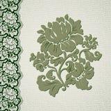 Cordón del vintage de la flor y de la frontera Fotos de archivo