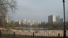 Cordón en el área de Obolon, Kiev Fotos de archivo libres de regalías