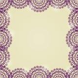 Cordón hermoso Mandala Frame Imagen de archivo libre de regalías