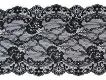 Cordón negro con el modelo de la manera de la flor Imagen de archivo libre de regalías