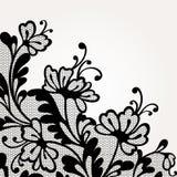 Cordón negro del vector Imágenes de archivo libres de regalías