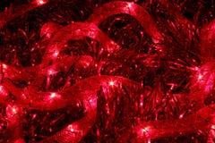 Cordón rojo que brilla intensamente Fotos de archivo