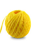 Cord ball. Yellow Cord ball.Ball of a yellow cord Stock Photos