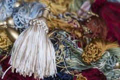Cord bobbins tuft flocks Royalty Free Stock Photography